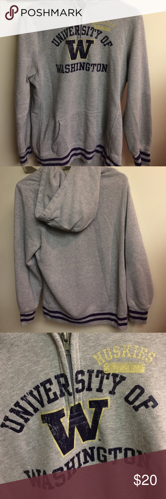 UW quarter zip hoodie UW quarter zip hoodie great condition barely worn! NCAA Tops Sweatshirts & Hoodies