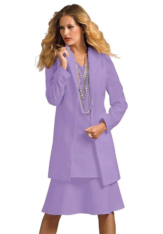 Roamans Women\'s Plus Size Duster Jacket With A-Line Dress ...