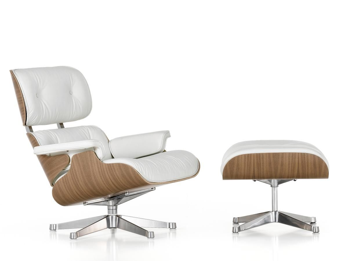 Vitra Design Sessel Vitra Lounge Chair Ottoman White Version Id 112 Project