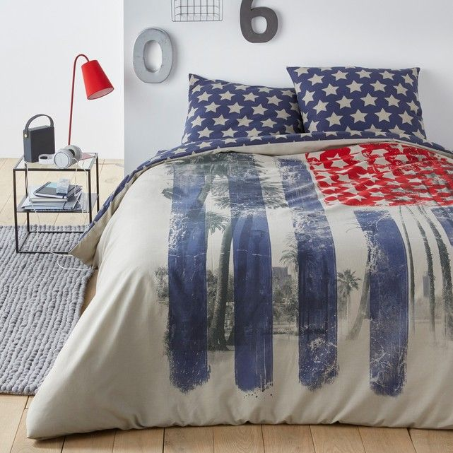 d7f4787dcc9 Pacifik Park Printed Duvet Cover La Redoute Interieurs Celebrate the Stars  and Stripes with this themed