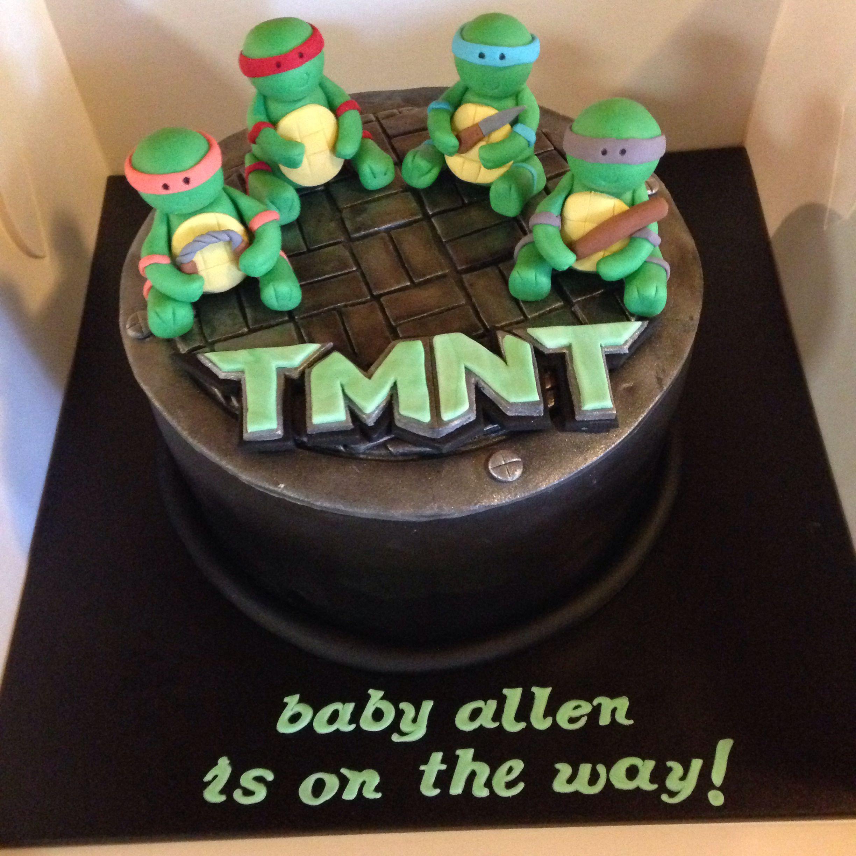 Delightful Teenage Mutant Ninja Turtles Baby Shower Cake