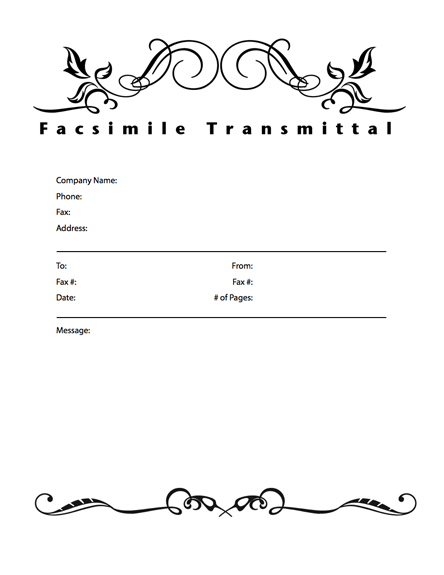 This printable fax cover sheet has the word Office – Fax Cover Word