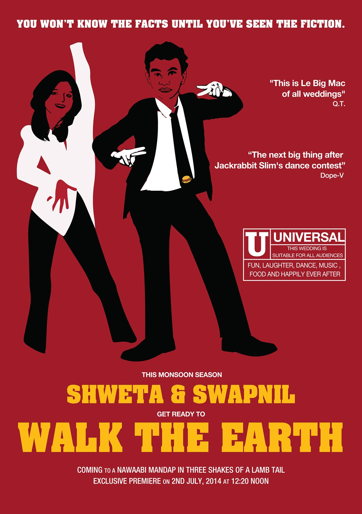 Wedding Invitation Pulp Fiction Style on Behance | Tying the Knot ...