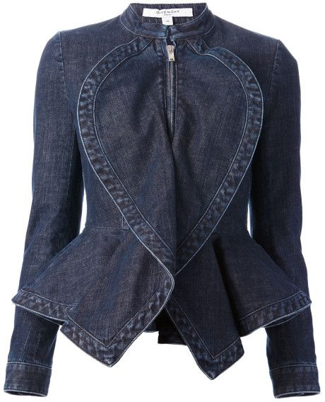 Fashion Blue Denim Pinterest Peplum Jacket Givenchy q1IdwSTI