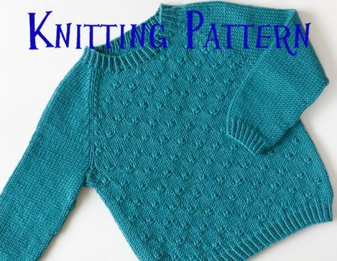 PDF Knitting Pattern - Little Heath Pullover, Ages 1-10 ...