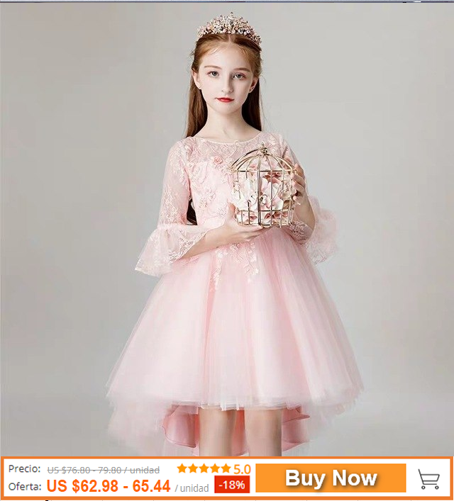 a8667afc8cafb 2019 spring new children girls sweet Pink color birthday p ...