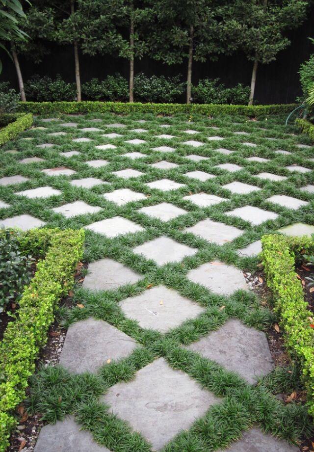 Backyard ideas with concrete
