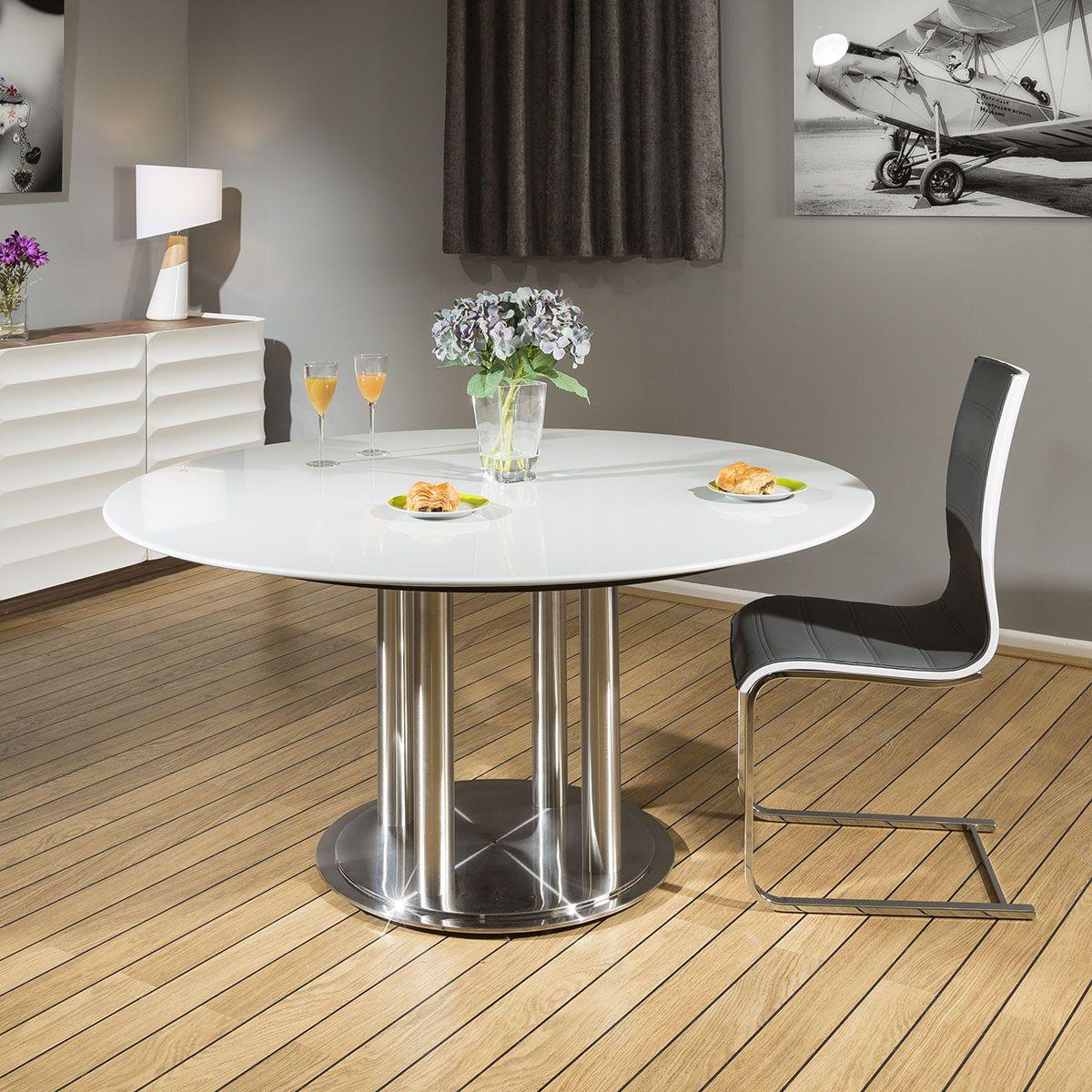 Quatropi Round Dining Table Grey 150cm