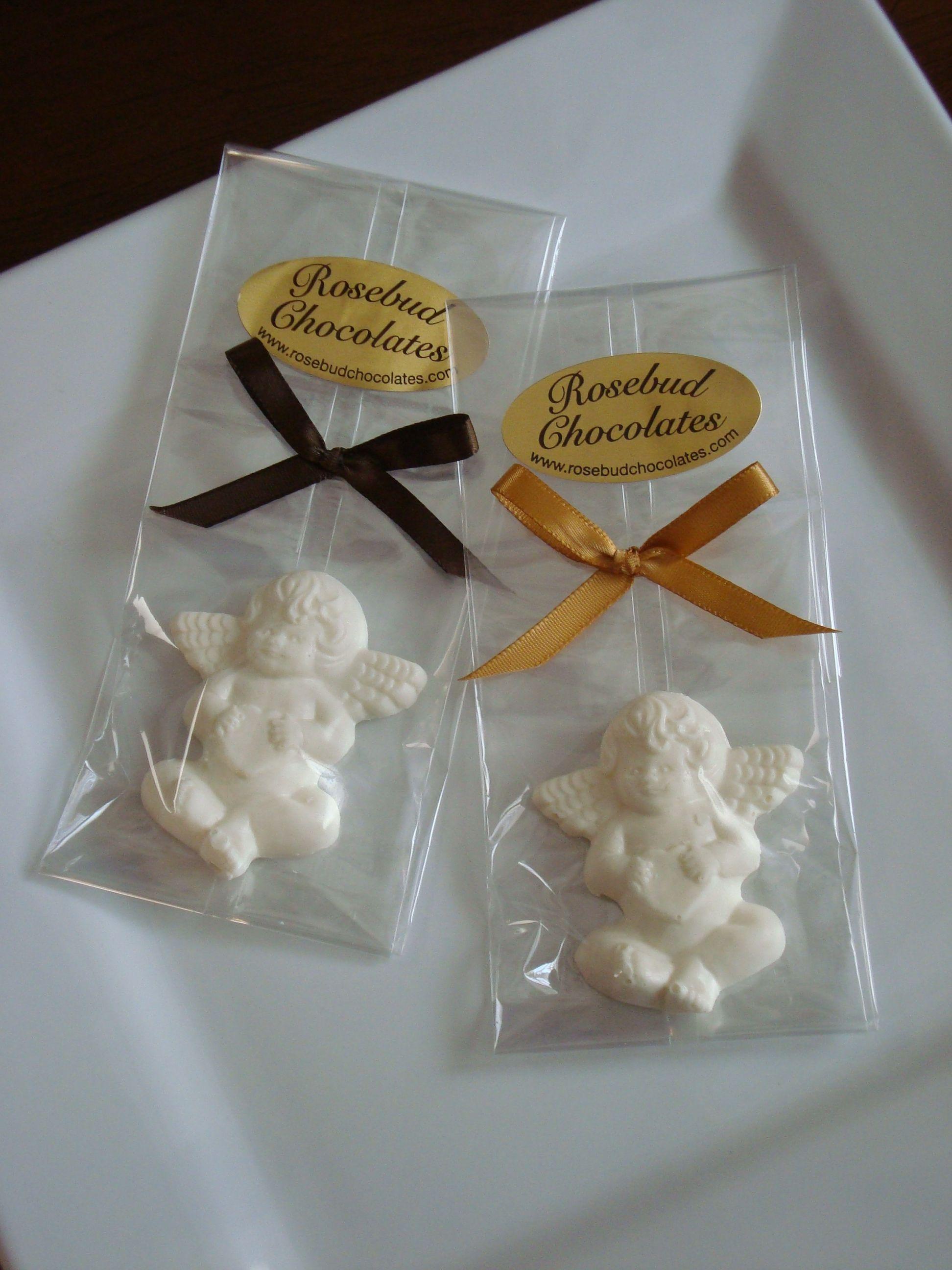 White Chocolate Angel Cherub Favors Communion Baptism