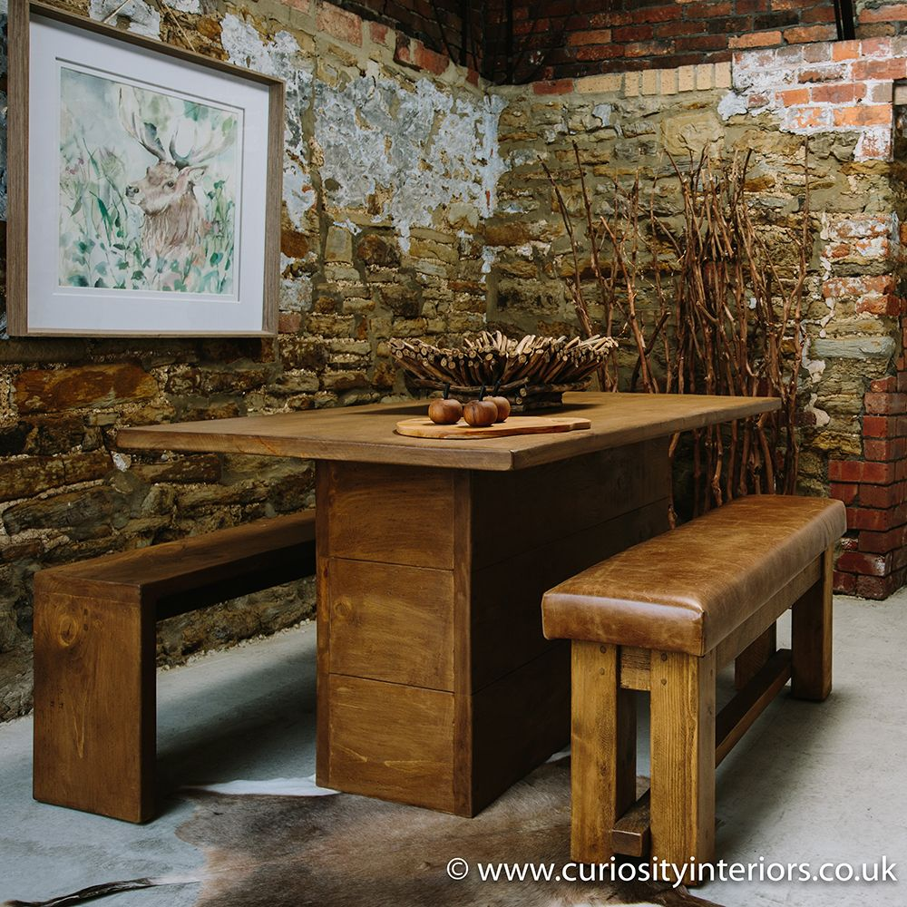 Idaho Plank Dining Table. Plank Dining Tables With Chunky, Rustic Design  And Hand Waxed