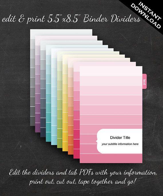 Printable Editable Rainbow Ombre
