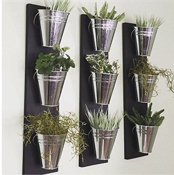 Indoor Wall Planter One Row 3 Pots Herb Wall Planters 400 x 300