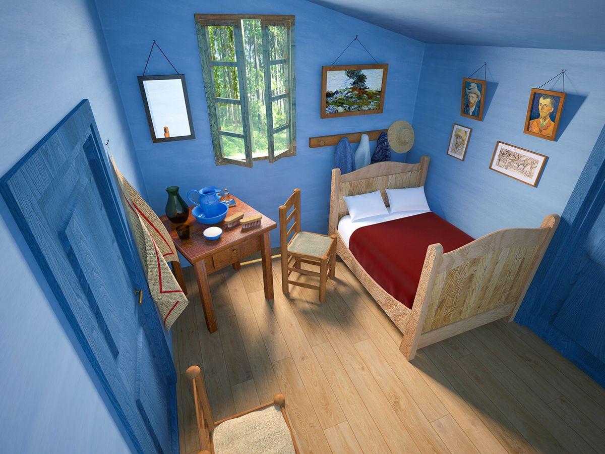 Vincent Van Gogh Bedroom In Arles 3d On Behance Museum