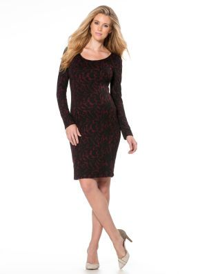 7f503fb9cfb43 Motherhood Maternity Jessica Simpson Long Sleeve Lace Trim Maternity Dress