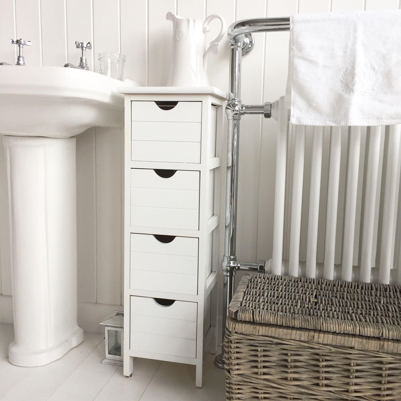 Narrow bathroom storage with the dorset slim range of furniture