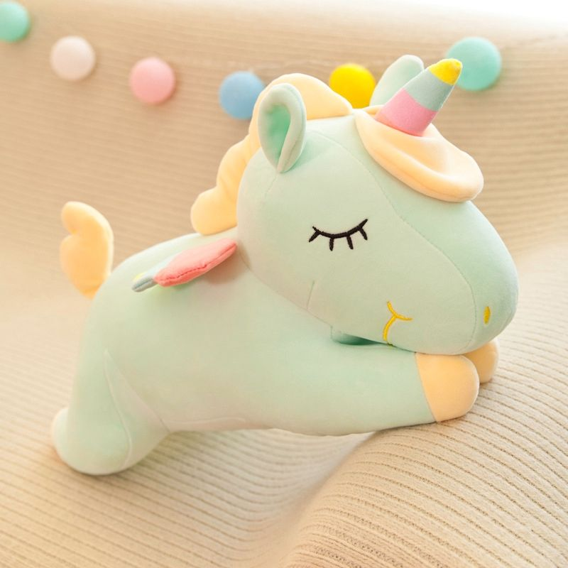 Lovely Unicorn Plush Toy Stuffed Toy Pink Fly Horse With Rainbow Wings Baby Kids Appease Doll Birthday G Unicorn Plush Birthday Gifts For Girls Gifts For Girls