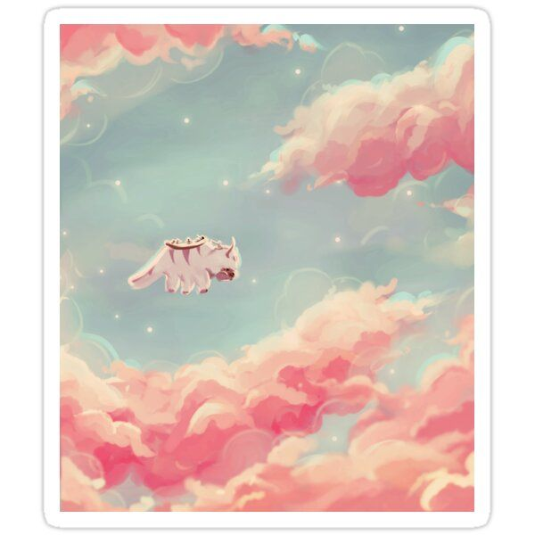 Dreamy Appa Poster V1 Sticker By Kingwise In 2020 Avatar Poster Avatar Picture Avatar The Last Airbender Art