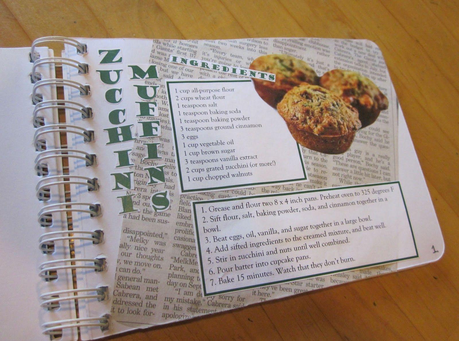 How to scrapbook a recipe book - Diy Cookbook