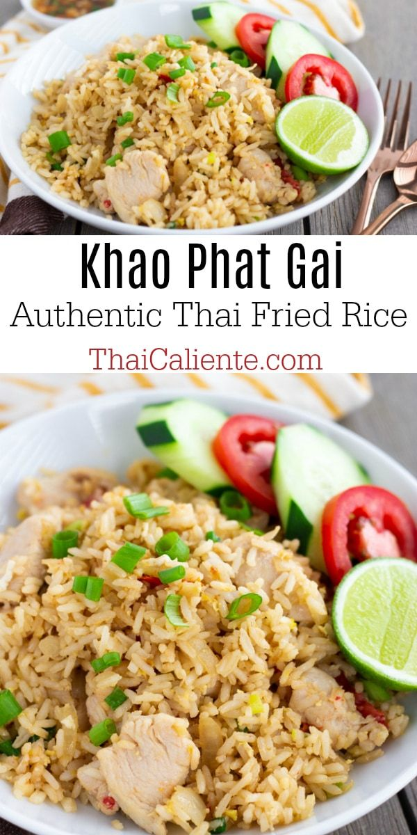 Thai Fried Rice with Chicken- Khao Phat Gai