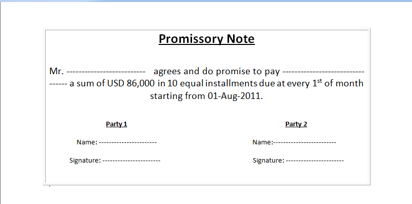 Doc12751650 Free Printable Promissory Note Template Free – Free Printable Promissory Note Template