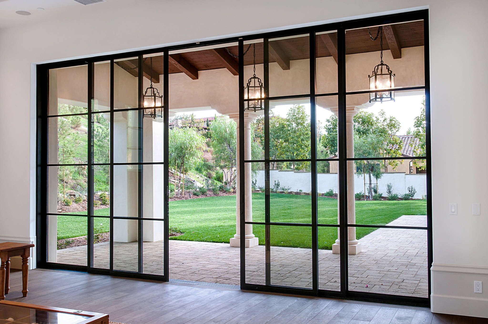 Shady Canyon Euroline Steel Windows Sliding Doors Exterior Sliding Door Design Sliding Doors Interior
