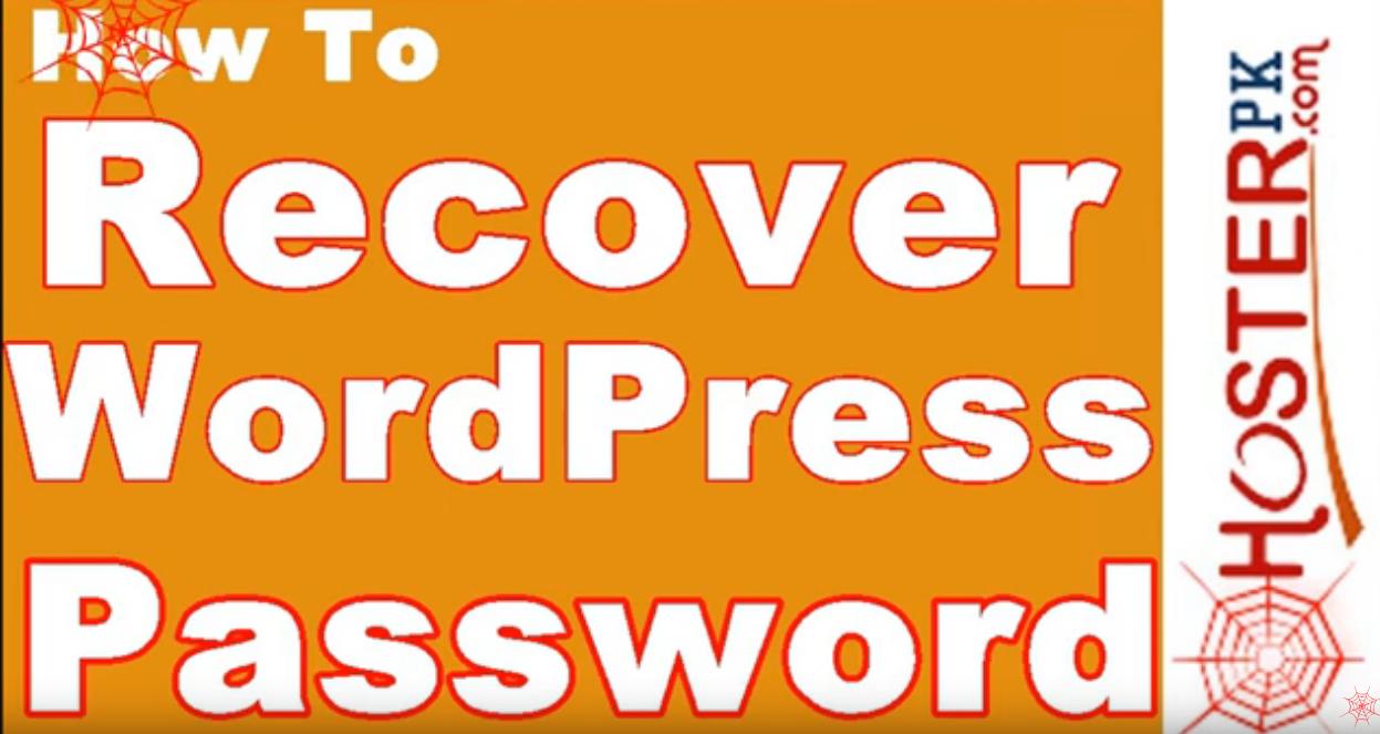 How to Recover/Reset WordPress Admin Password Urdu