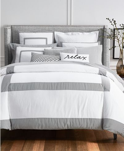 Photo of Charter Club Colorblock Black Bedding Collection, Created for Macy's & Reviews – Bedding Collections – Bed & Bath – Macy's