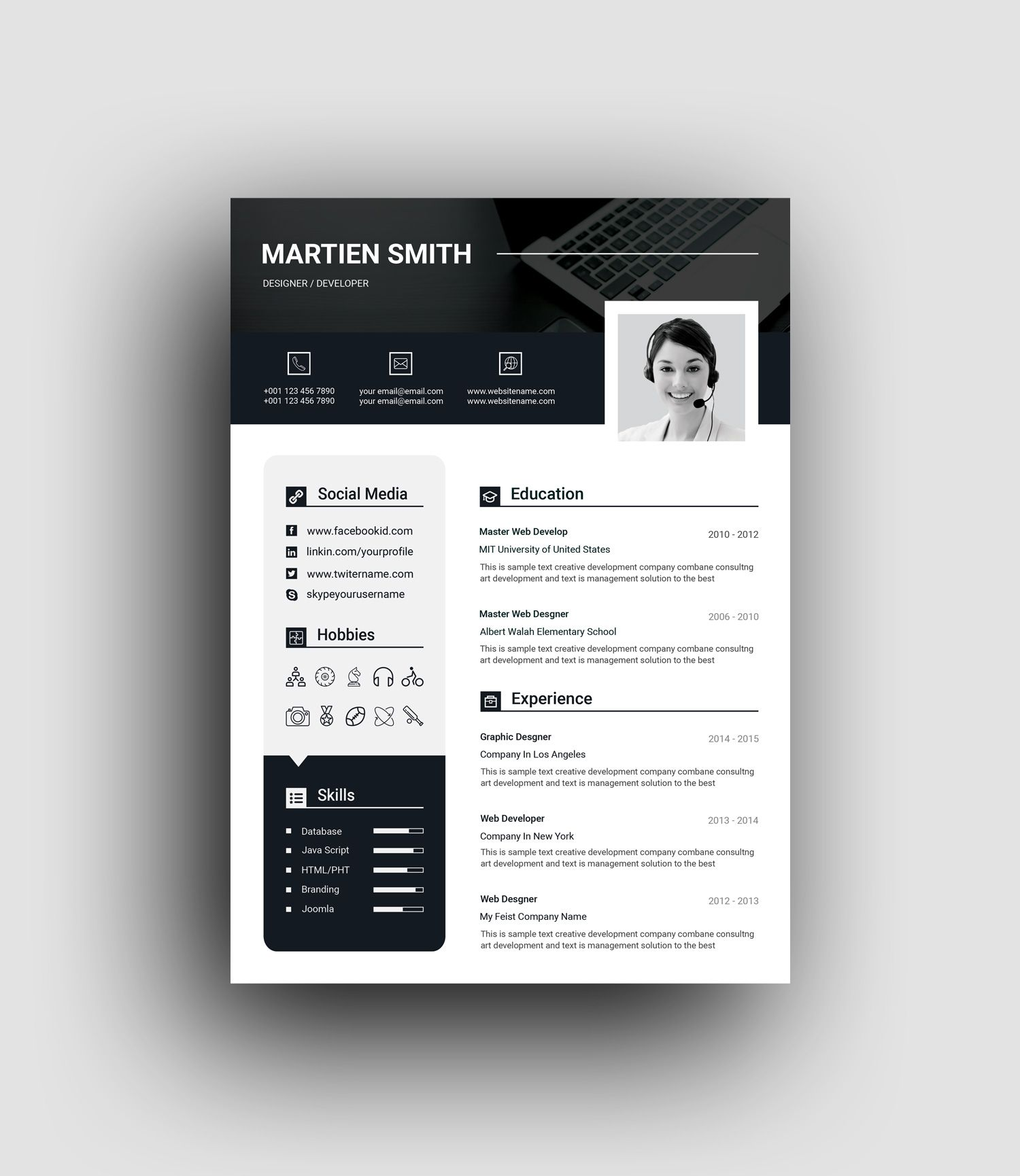 Lexington Premium Professional Resume Template