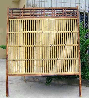 outdoor privacy screens lattice top bamboo privacy fence aged japanese style