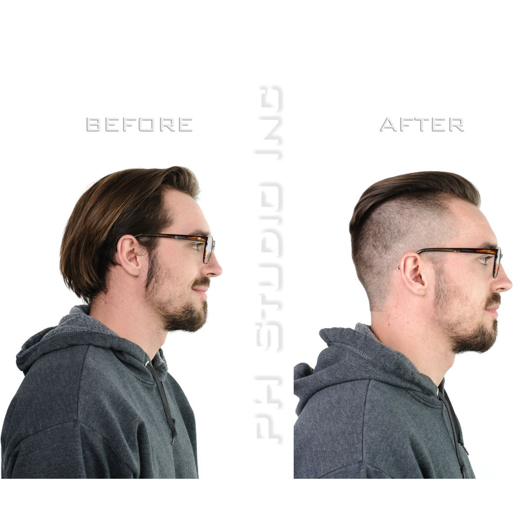 The Disconnected Undercut With Temple Fade Sides And Heavy Accent On