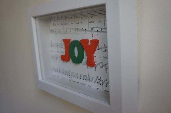 Christmas Joy To The World Red Green Modern Decor by mucycled, $35.00