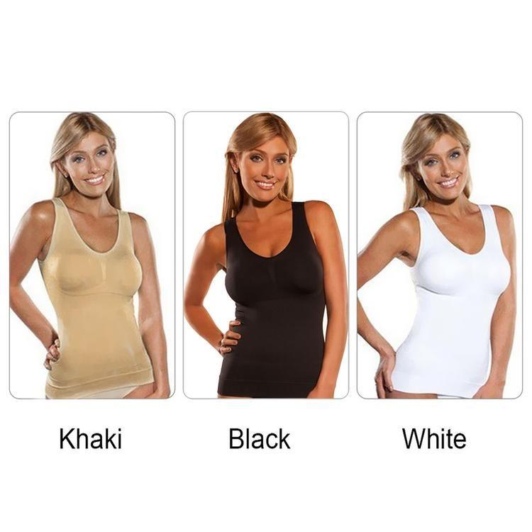 f852dedcba22a Cami Shaper by Genie Bra Vest Body Shapers Underwear Slimming Corsets  Shapewear