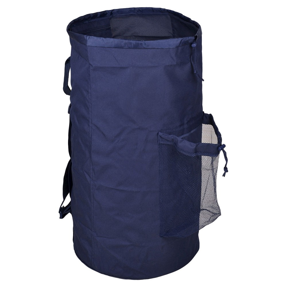 Laundry Bag With Pocket Navy Room Essentials Laundry Bag