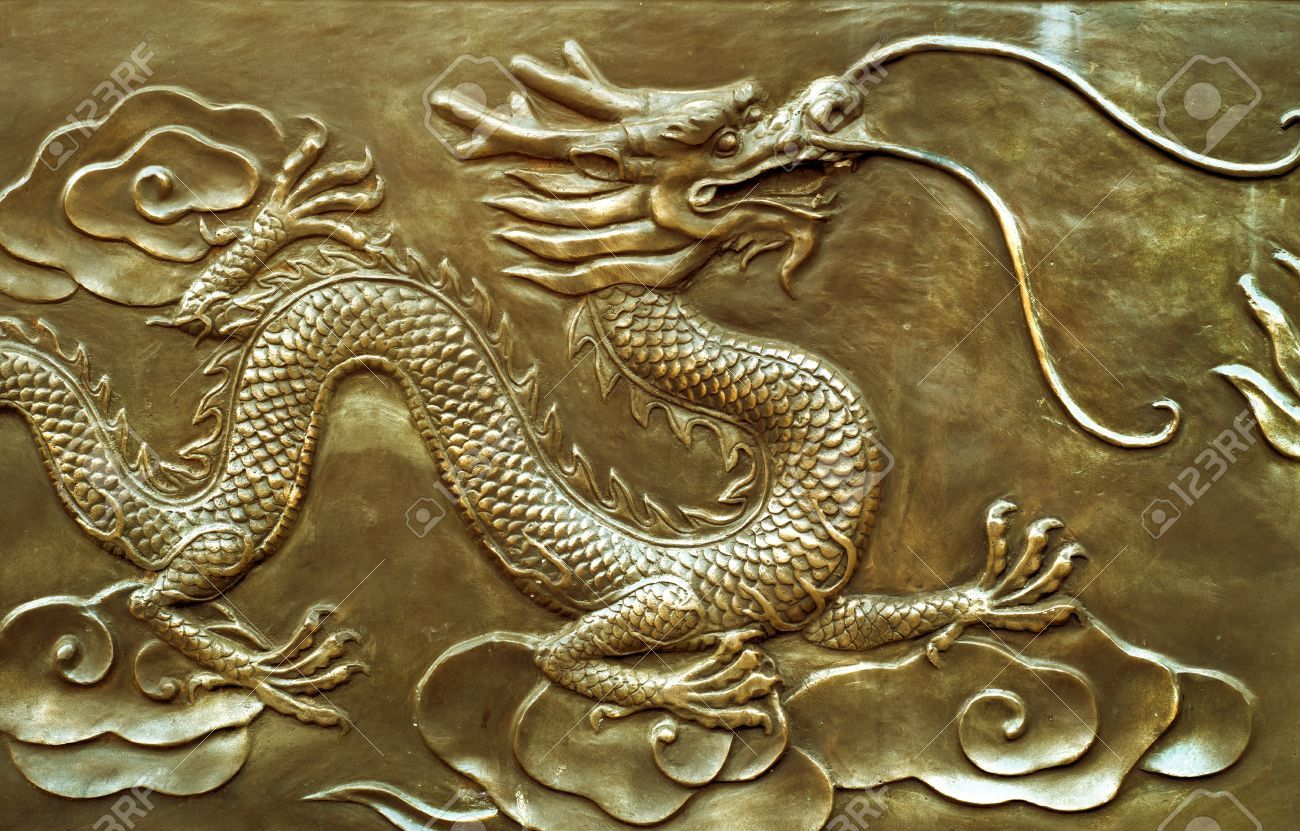 Ancient Chinese Dragon Flag