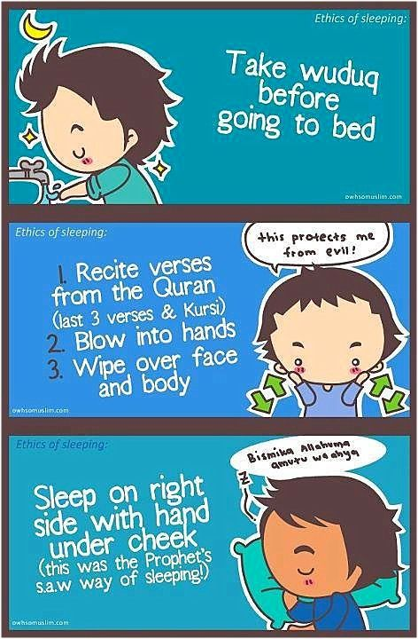 Before going to bed