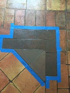 Before And After Staining Saltillo Tile Patio Tiles