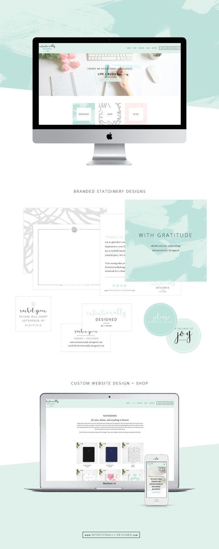 Intentionally Designed print and website design::