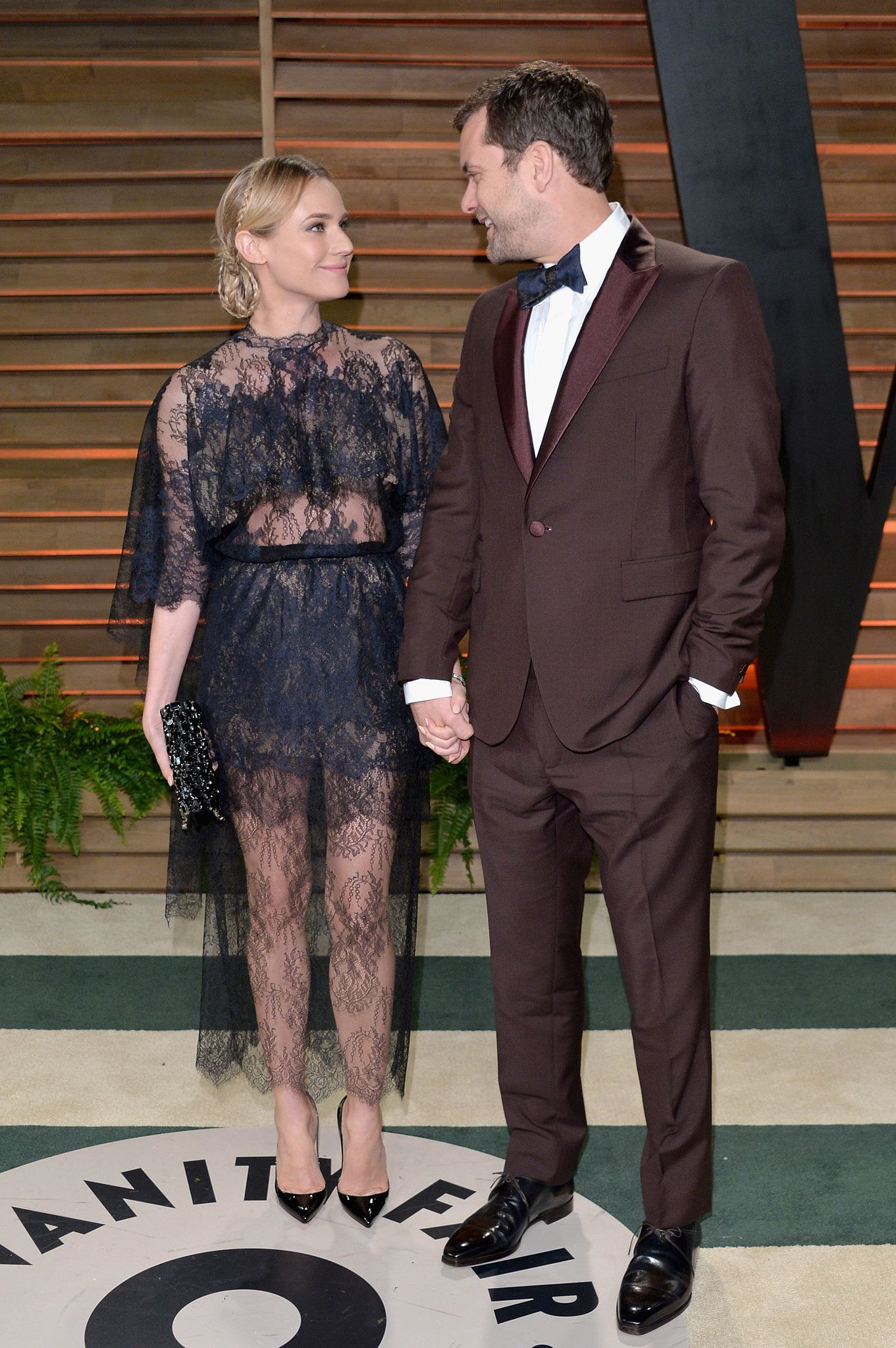 Diane Kruger and Joshua Jackson at the 2014 Vanity Fair Oscars party