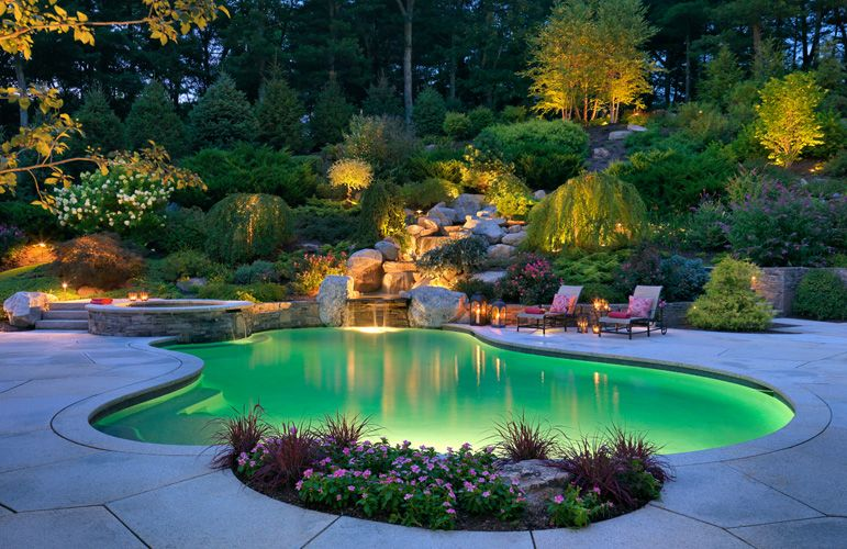 sudbury design group light pool group and landscaping