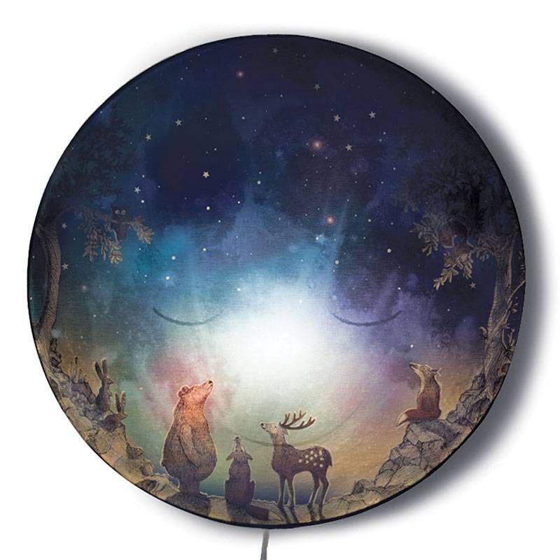 Schlafender Mond | Kinder zimmer, Kinderzimmer und Wandlampe ...