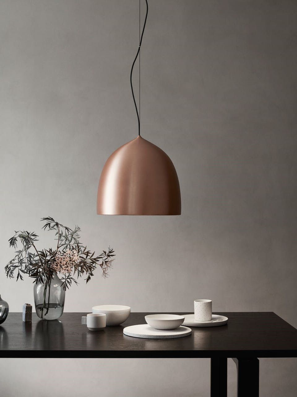 Elegant Lamp In Copper From Danish Designer Gamfratesi Taklamper Taklampe Spisestue Lamper