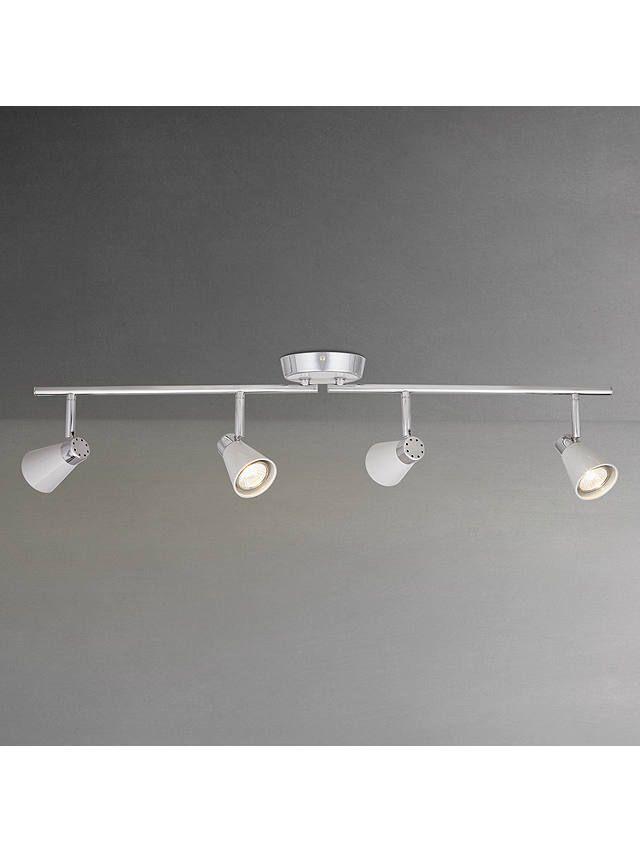 John Lewis Partners Logan Gu10 Led 4 Spotlight Ceiling Bar Grey Spotlight Bulbs Flush Ceiling Lights Ceiling Lights