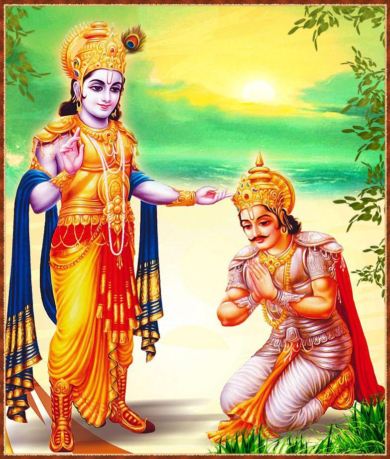 Download hd wallpaper krishna arjun