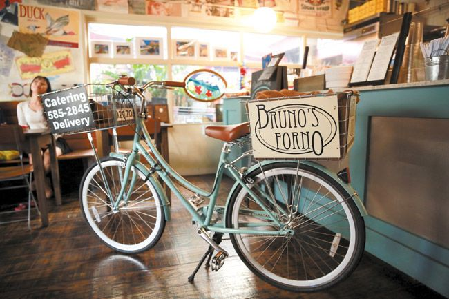Delivery to the downtown area is available on this charming, and eco-friendly, bicycle