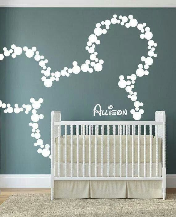 Micky Maus Wandgestaltung | Flur | Disney kinderzimmer, Kinderzimmer ...