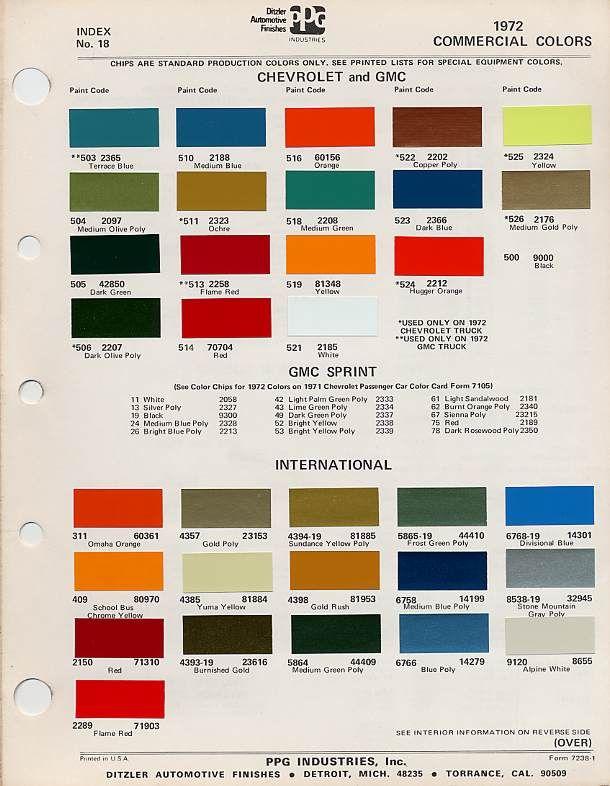 c10 factory paint schemes