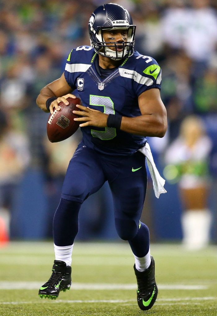 7f30ee94904 ... shopping russell wilson of seattle seahawks wearing nike lunar super  bad pro td pe 6d2ea 5fcba