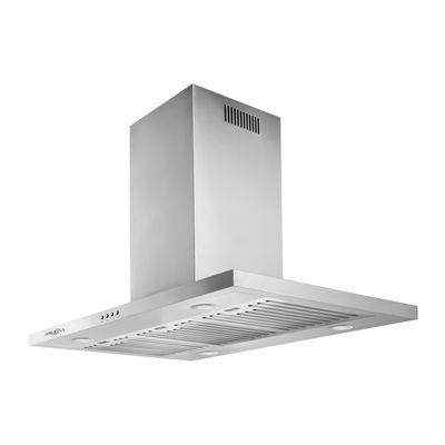 Ancona AN-1414 Aero Island IV Convertible Island-Mounted Range Hood with LED lights in Stainless Steel