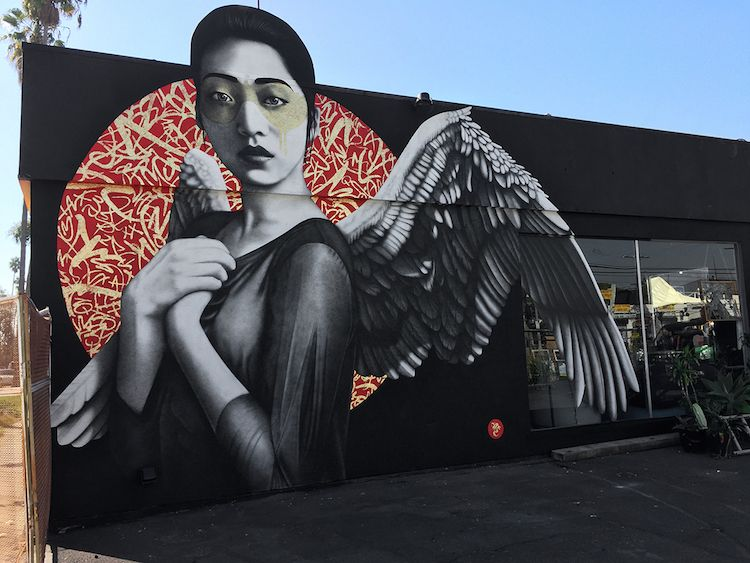 Fin DAC street art los angeles