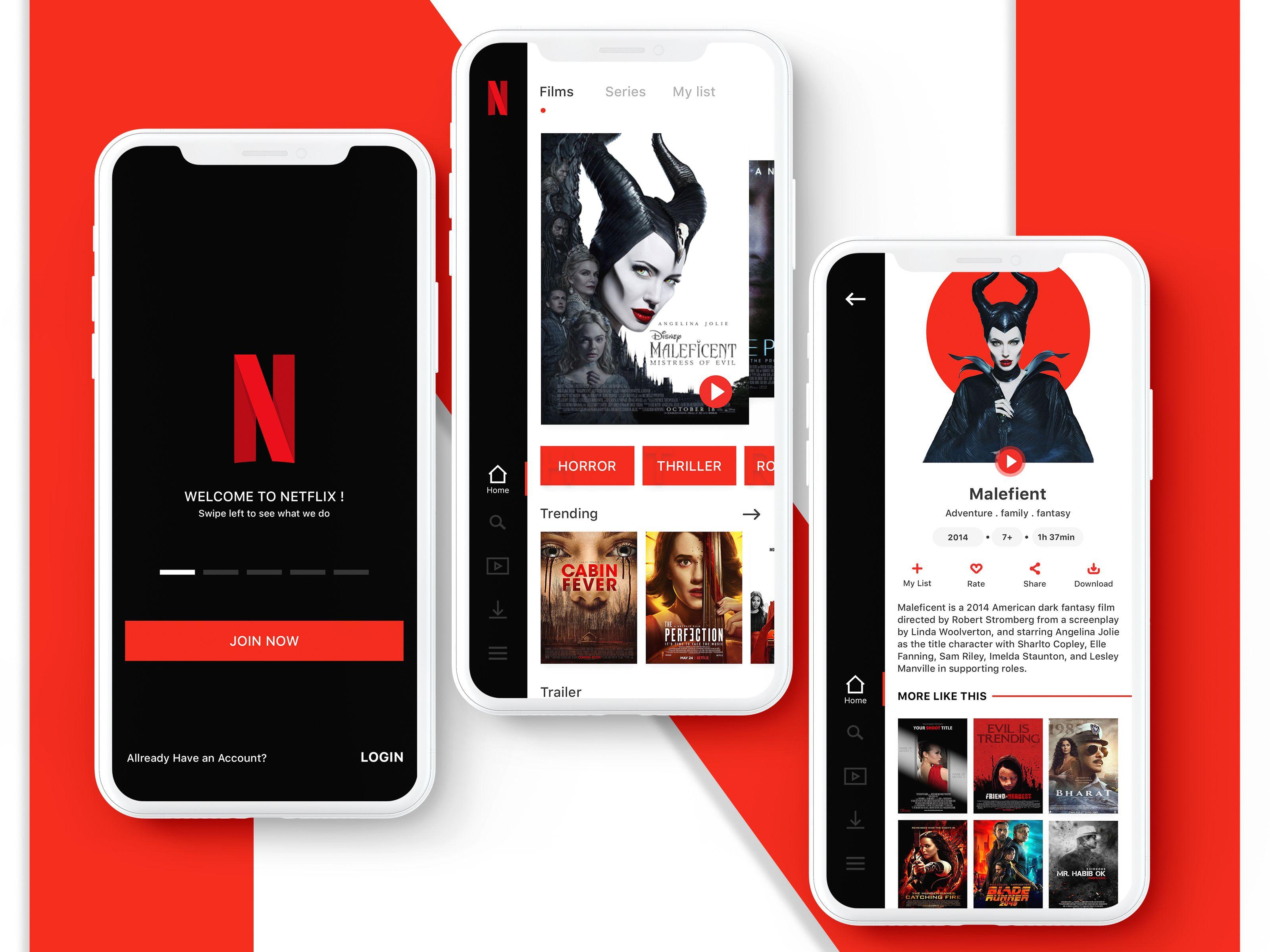 Netflix Redesign App Netflix App Design Netflix App